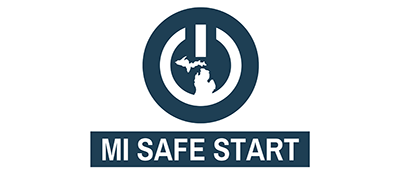 logo for the Michigan Safe Start Reopening plan during COIVD Pandemic
